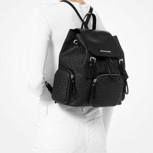 Michael Kors ABBEY Large Cargo Backpack. BLACK